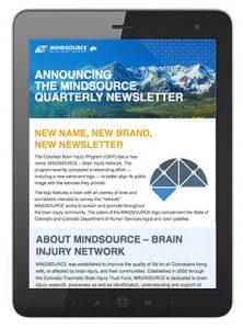 Tablet Displaying Digital Newsletter